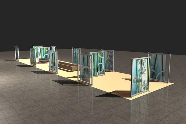 CAD-Designvorschlag transluzente Raumbegrenzung