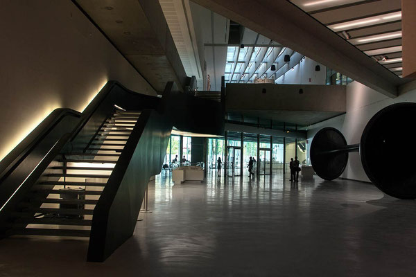 Inside of 'MAXXI - Museo Nazionale delle Arti del XXI secolo' (National Museum of the 21st Century Arts), designed by Iraqi-British architect Zaha Adid and located in the Flaminio neighbourhood of Rome.