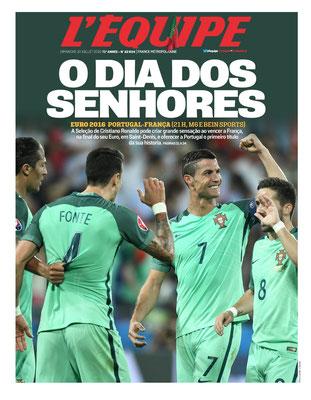 Edizione speciale, in portoghese della rivista di sport francese 'L'Equipe', 10 Luglio 2016, dedicata ai vincitori del torneo Euro 2016