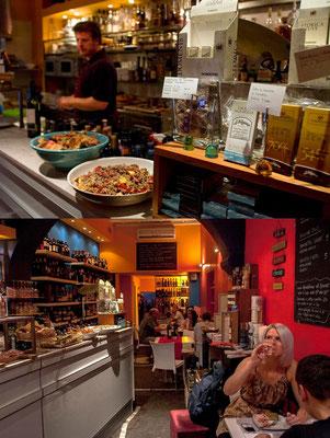 Inside 'Fafiuche' wine-bar, in Monti area, specialized in Northern Italian wines.