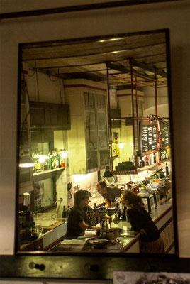 Pigneto area, inside popular restaurant 'Primo', in the pedestrian street 'via del Pigneto'.