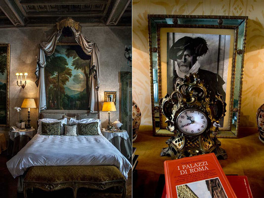 Rooms of 'Palazzo Ruspoli', a XVI century buidling in Rome center of old and noble family of Ruspoli. In the big palace, over the famous 'Fondazione Memmo' museum, it is possible to rent rooms or an entire floor, as a very special holiday residence.