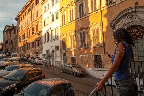 Monti neighborhood, ancient palaces of beautiful street 'Salito del Grillo'