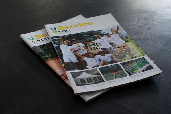 """Vereinszeitung """"TCO Service"""", DinA4-Format, 80 Seiten, in farbiger Bilderdruckqualität I TCO"""