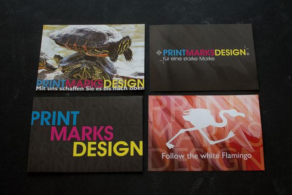Verschiedene Flyer im DinA6-Format I PrintMarksDesign