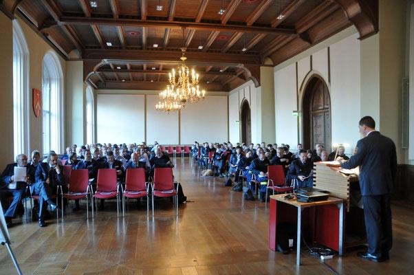 Stralsund. Rathaus, Löwenscher Saal, fertig, Blick zum Publikum