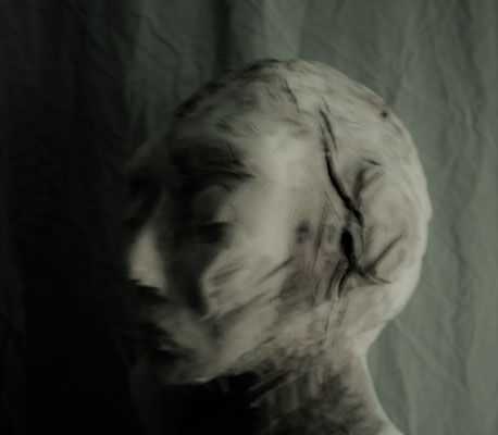 Skulptur Holz Kopf