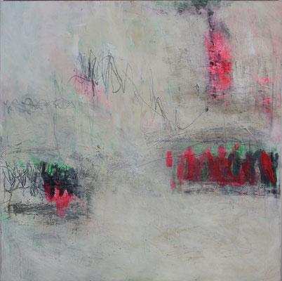-MORGENTAU- Acryl auf Leinwand mit Collage - 100cmx100cm