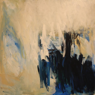-BLUE MOON- Acryl auf Leinwand - 100cmx100cm