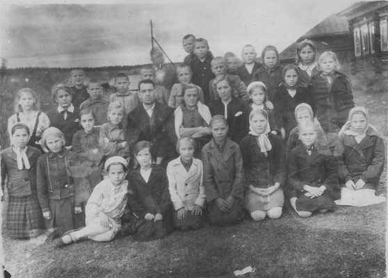 1946 год. Директор школы - Аксенов В.А. Завуч школы Щукина М.П.