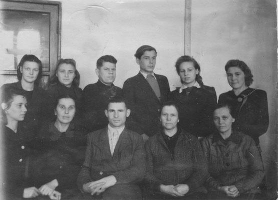 Педколлектив школы ноябрь 1948 года