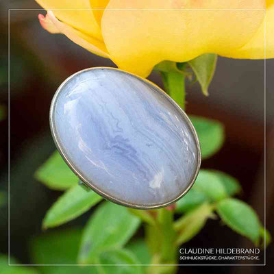 Silberring Chalcedon