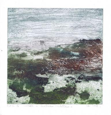 """Caroline ROCHETTE, """"Cancale B EU1"""", estampe, 30x30 cm, 2019"""