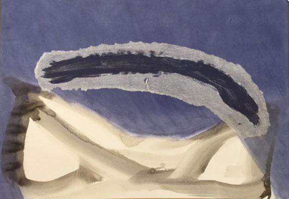 """Christine VALCKE, """"Sans titre 1"""", Encre sur papier, 70x100 cm, 2006"""