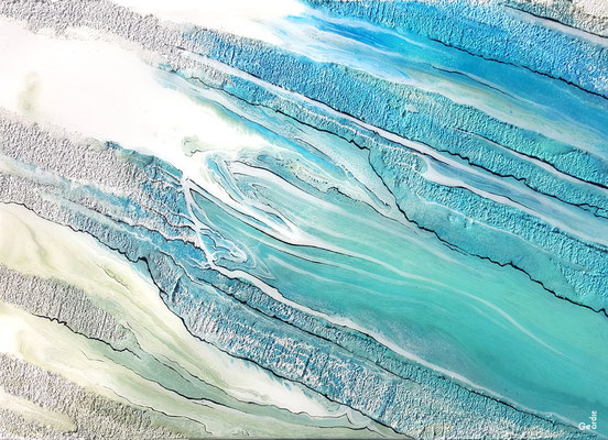 "GEORDIE, ""Entre terre & mer 2"", Digital art sur dibon, 68x90 cm, 2019"