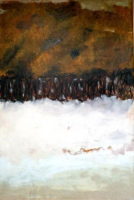 """Elipi, """"Norway"""", Acrylique sur toile, 110x90 cm, 2019"""