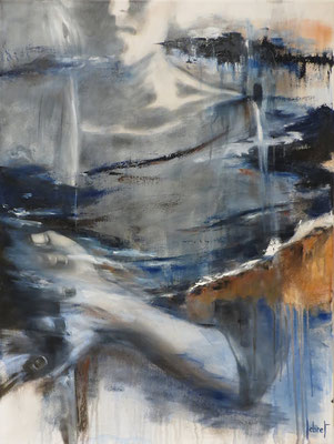 """Cathy LEBRET, """"Ancrage"""", Techniques mixtes, 80x60 cm, 2018"""