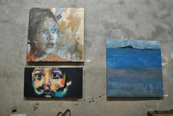 Oeuvres d'Aurelie SALVAING,André LE CORRE et FIKAS