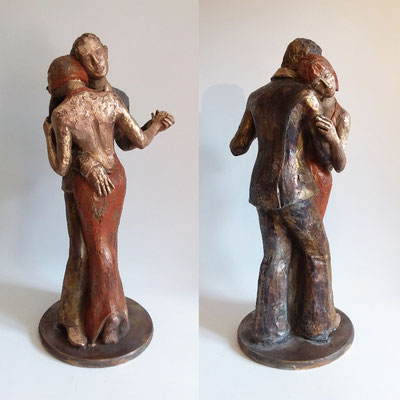 """Seelentanz""  Bronze patiniert, h. 60 cm"