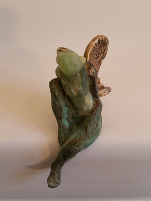 """JadeEngel""  Jade auf Bronze"