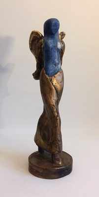 """Lapislazuli Engel"" Lapislazuli auf Bronze, verkauft"