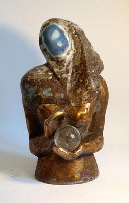 """""""Das zweite Gesicht"""" Oregon Opal auf Bronze, verkauft"""