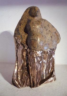 """""""Die große Mutter""""  Schlangenjaspis auf Bronze, verkauft"""