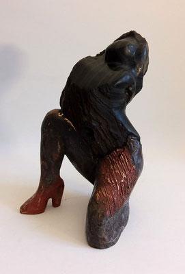 """Teufelsweib""  Obsidian auf Bronze"