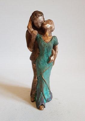 """Romanze"" Bronze patiniert, h. 20cm"