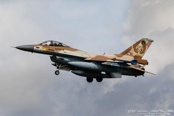 536 F-16C 101sq Israel Airforce