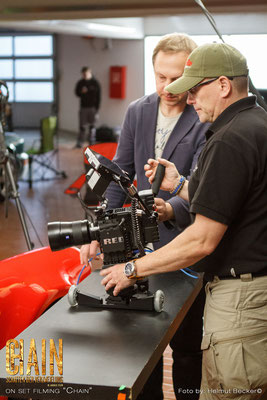 """Stefan Czech as the DoP for the second shot for the movie """"Chain"""" from Jakale Film: Atomos Shogun and P&S Technik Skater"""