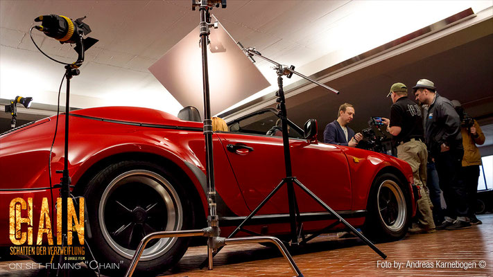 on location with some Porsche