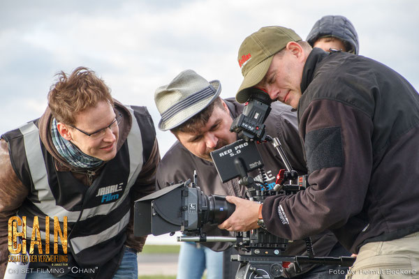 "Stefan Czech as the DoP for the second shot for the movie ""Chain"" from Jakale Film: three film fanatics at work"