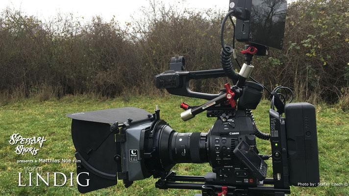 """Am Set von """"Vorm Lindig""""  Canon C100 Mark II, Virtus System und Atomos Shogun iststartklar"""