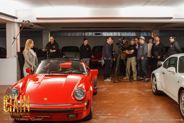 """Stefan Czech as the DoP for the second shot for the movie """"Chain"""" from Jakale Film: on location with some Porsche"""