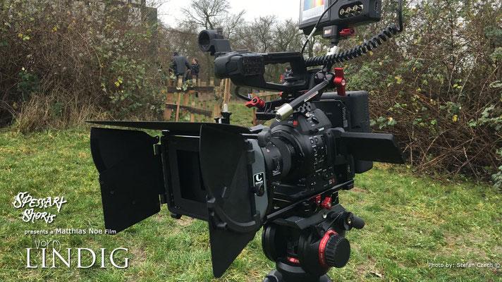 """Am Set von """"Vorm Lindig""""  Canon C100 Mark II, Virtus System und Atomos Shogun ist start klar"""