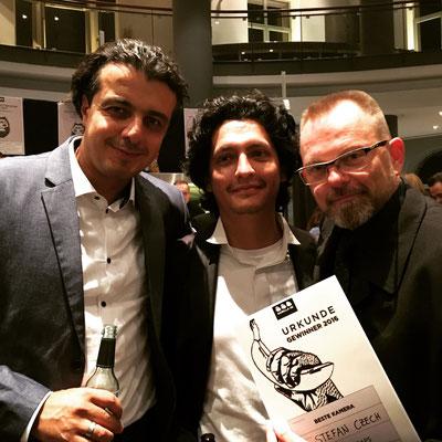 Murat (Schauspiel), Samuel(Ton) und Stefan (Kamera)