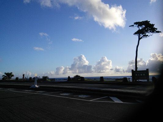 底土海水浴場の夜明け