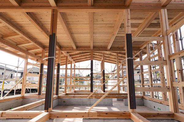 木と土の家、木組み