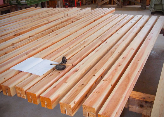 構造材の木取り
