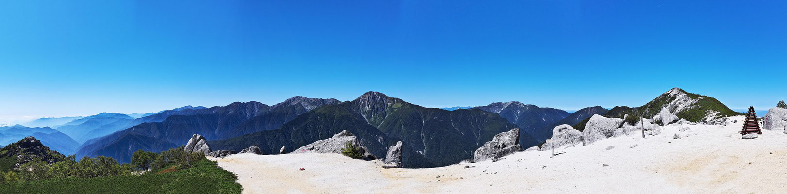 薬師ヶ岳(鳳凰山)頂上から360度大パノラマ2