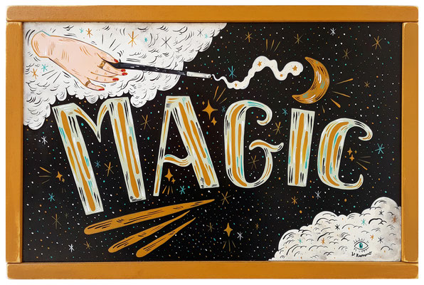 The magic in you - Acrylic on wood - 32 x 48 cm - 2021