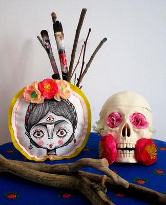 SOLD - Frida Kahlo home decoration