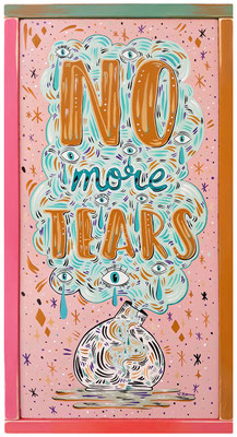 SOLD - No more tears - Acrylic on wood - 30 x 60 cm -  2021