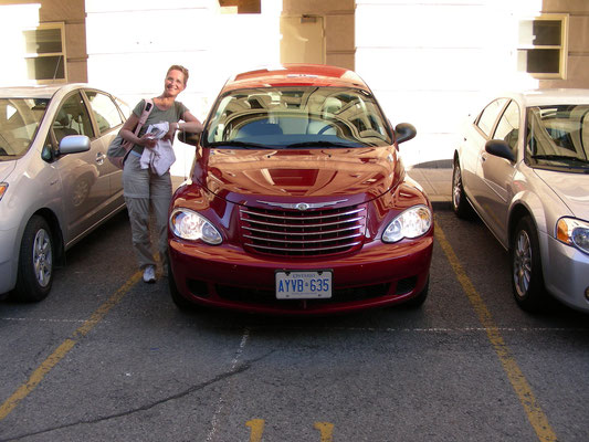 Chrysler PT Cruiser - Our rental car for Canada