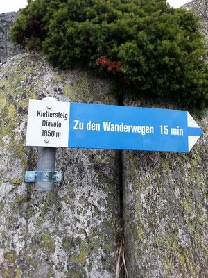 Via Ferrata Diavolo - Ausstieg Tüfelstalboden