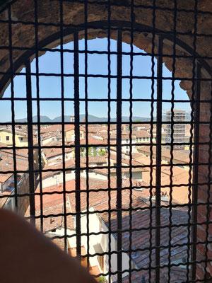 Blick aus dem Treppenhaus - Torre Guinigi, Lucca