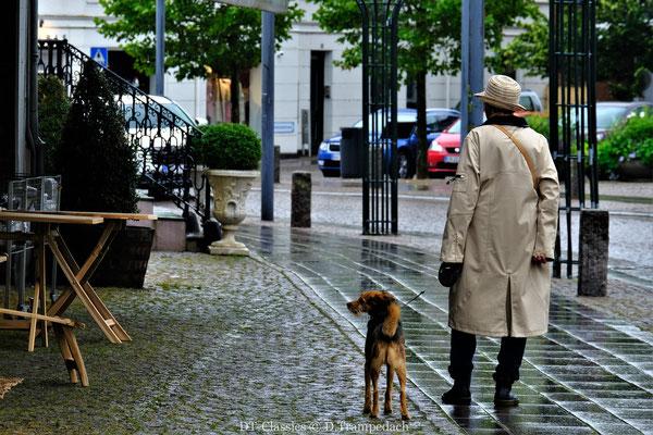 Dame mit Hut & Hund.