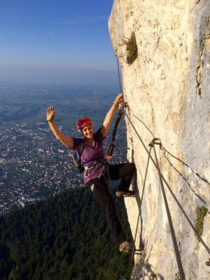 Faltarockclimberin Gisi