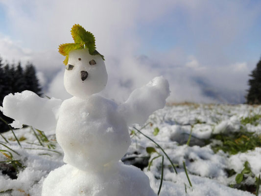 Erster Schneemann dieser Saison